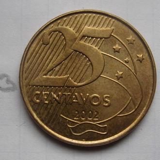 БРАЗИЛИЯ, 25 сентаво 2002 года.