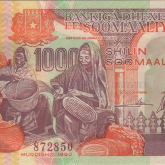 Сомали 1000 шиллингов 1990г. в UNC