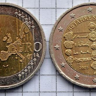 Австрия 2 евро, 2005, 50 лет подписанию договора о нейтралитете Австрии