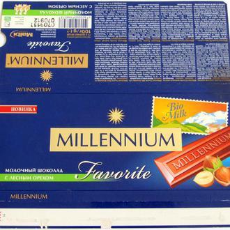 Обёртка от шоколада  Millenium gold 100 г 209 год