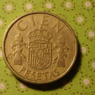 Испания 1982 год монета 100 песет !