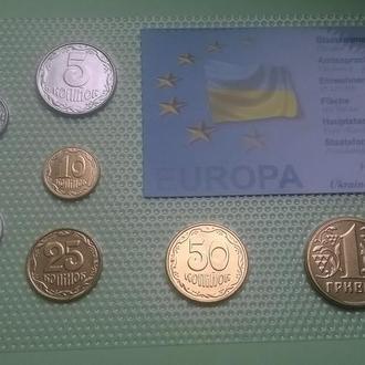 Редкий набор Украина в т.ч. 50 копеек 2001 год + 25 копеек 2001 год + 10 копеек 2001 год RRR набір