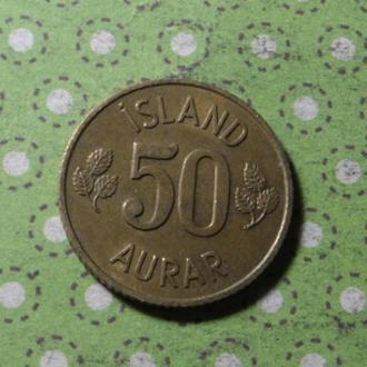 Исландия 1971 год монета 50 эре !