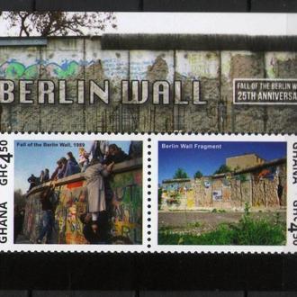 Гана 2014 Берлинская Стена История блок MNH **