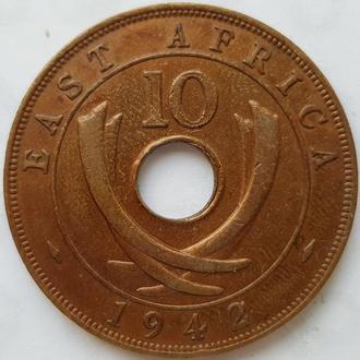 Восточная Африка  10 центов 1942 год СОСТОЯНИЕ!!!!