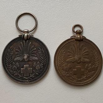 Япония, две медали Красного Креста 1904-05 годов.Серебро и бронза