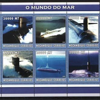 Мозамбик 2002 ** ВМФ Подводные лодки МЛ MNH