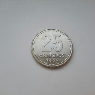 Аргентина. 25 сентаво  1993 год.