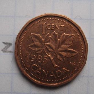 КАНАДА, 1 цент 1985 года.