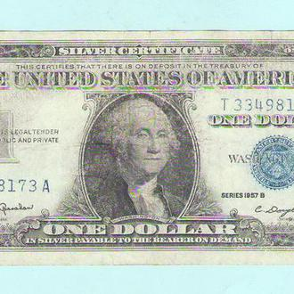 США 1 доллар 1957