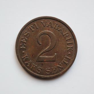 Эстония 2 сента 1934 г., XF-UNC, '1ая Республика (Крона) (1928-1940)'