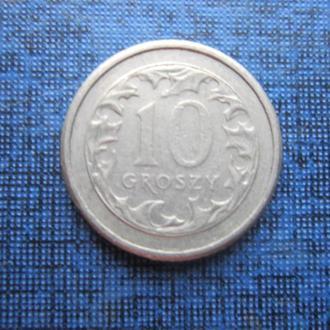 монета 10 грошей Польша 1990