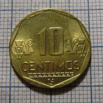 Перу, 10 сентимо 2015 г.