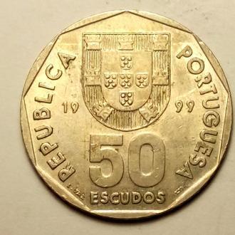 50 эскудо 1999 года Португалия СОСТОЯНИЕ !!! а2