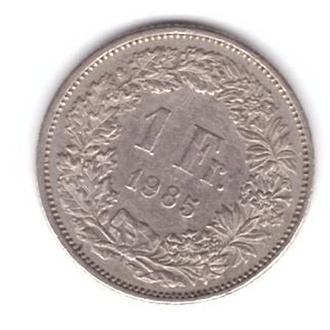 1985 Швейцария 1 франк