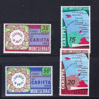 Монтсеррат 1969 г  MNH - карта