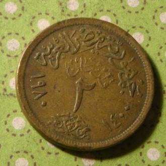 Египет монета 2 пиастра !