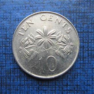 монета 10 центов Сингапур 2007