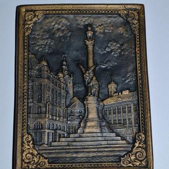 интересная настенная композиция глина Архитектура Львов Площадь Мицеквича винтаж