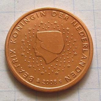 Нидерланды_ 5 евро центов 2008 года оригинал