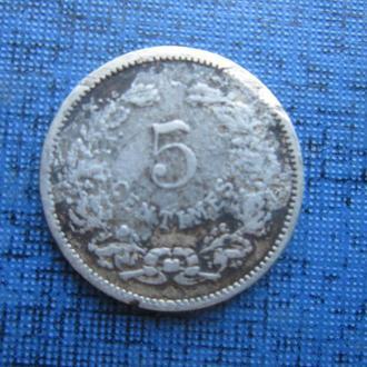 монета 5 сантимов Люксембург 1901