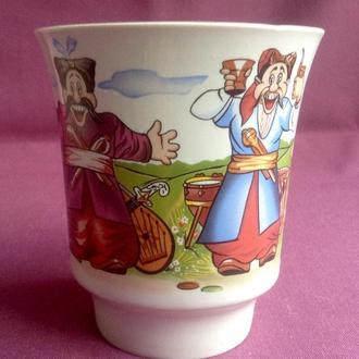 Чашка Козаки. Фарфор.