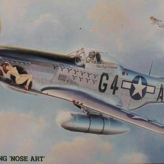 Сборная модель самолета Mustang P-51D  (Nose Art) 1:48 Hasegawa 51565 (раритет)
