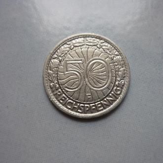 Германия 50 пфеннигов 1927 F  VF=5$