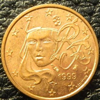 1 євроцент 1999 Франції
