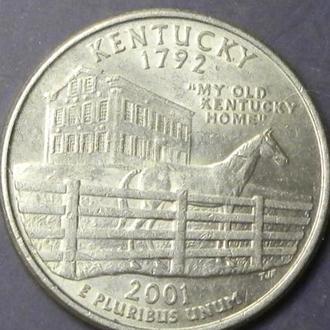 25 центів 2001 P США Кентуккі