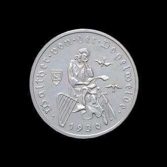 3 Марки 1930 А Вальтер фон Фогельвейде,(100) Германия Веймарская Республика