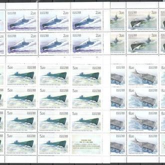 Россия 2005 ** Подводные лодки ВМФ Флот 4 листа СК 1004-1007 MNH