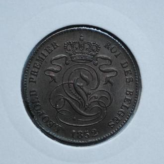 Бельгия 2 сантима 1852 г., ОЧЕНЬ РЕДКАЯ В ЭТОМ СОСТОЯНИИ