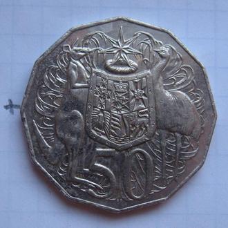 АВСТРАЛИЯ 50 центов 2010 года.