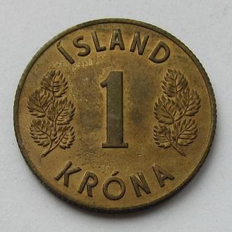 Исландия 1 крона 1961 (KM#12a)