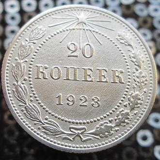 20 копеек 1923г. Серебро.Оригинал.