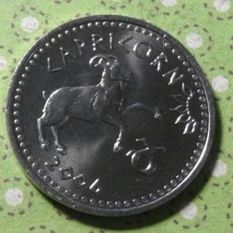 Сомалиленд 2006 год монета 10 шиллингов козерог !