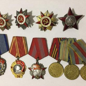 Комплект медалей! Грудь одного человека!