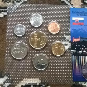 Набор монет СЛОВАКИЯ пластик блистер запайка