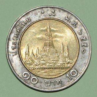 (А) Таиланд 10 бат 2008 -старый аверс-