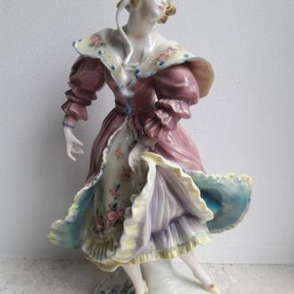 Фарфоровая статуэтка Девушка в розовом платье, Karl Ens, Германия