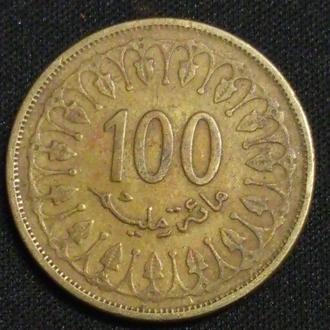 Тунис 100 миллим-разные года