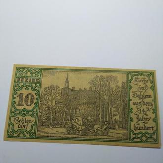 50 пфеннигов, нотгельд Германия, Берлин, 1921, пресс, unc, оригинал! Серия городские районы 10