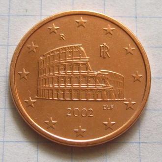 Италия_ 5 евро центов 2002 года  оригинал