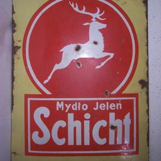 Реклама,  мыло Олень, табличка,  Галиция, Польша,  1920-ые
