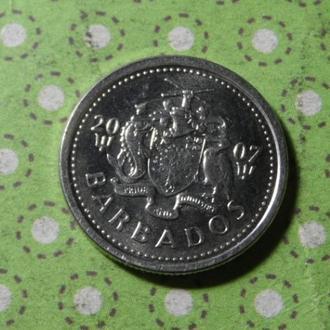 Барбадос 2007 год монета 10 центов !