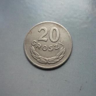Польша 20 грошей 1949 медно-ник.