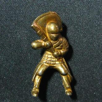 Солдатик  Всадник  Рыцарь со знаменем флагом  без лошади  Металл