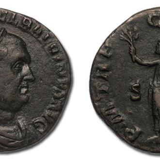 """(А)1614 - Бальбин (238 г.) Æ Сестерций """"Император"""""""