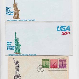 Архитектура .  США - КПД  - 2а скана - статуя Свободы